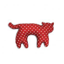 Poduszka na szyję Kotek Leschi polka dot red