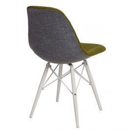 Krzesło P016W Duo D2 zielono-szare/białe