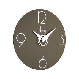 Zegar ścienny Incantesimo Design Diem srebrny ciemny