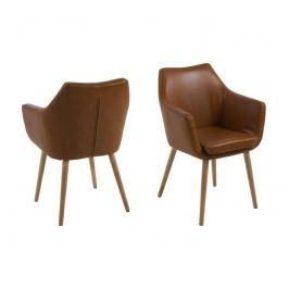 Krzesło Nora Brandy PU Actona brązowe