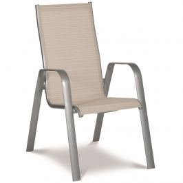 Krzesło ogrodowe sztaplowane 105,5cm Acatop Acamp platyna/piasek