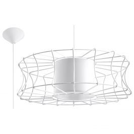 Lampa wisząca 49x49cm Sollux Lighting Salerno biała