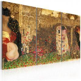 Obraz - Gustav Klimt - inspiracja, tryptyk (60x40 cm)