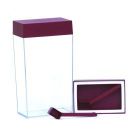 Pojemnik prostokątny 4 l O'LaLa przezroczysto-rubinowy