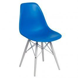 Krzesło 45x39x80cm D2 P016W PP niebieskie/białe