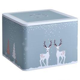 Puszka na herbatę 13cm Eigenart Śnieżna przygoda niebieska