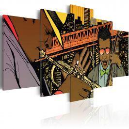 Obraz - Jazz w komiksie (100x50 cm)
