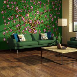 Fototapeta - abstrakcja: drzewo (zielony) (200x154 cm)