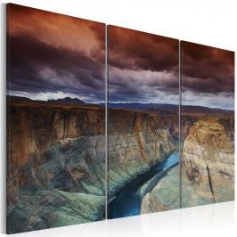 Obraz - Chmury nad Wielkim Kanionem Kolorado (60x40 cm)
