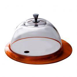 Patera ze szklaną pokrywą Casa Bugatti Glamour pomarańczowa