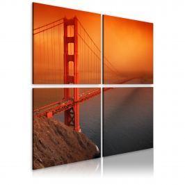 Obraz - San Francisco - Most Golden Gate (40x40 cm)
