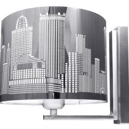 Kinkiet City Lampex srebrny