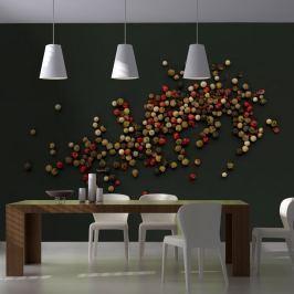 Fototapeta - Kompozycja z kolorowego pieprzu (200x154 cm)