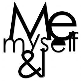 Napis 3D na ścianę DekoSign ME MYSELF & I czarny