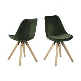 Krzesło Dima VIC Actona leśna zieleń-drewno kauczukowe