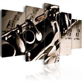 Obraz - Dźwięk klarnetu (100x50 cm)