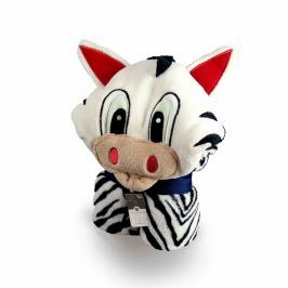 Przytulanka, kocyk w jednym Zebra