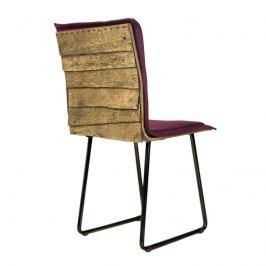 Krzesło na płozach Gie El Gont czarny/burgund