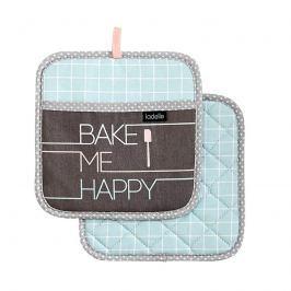 Zestaw 2szt. uchwytów do naczyń Bake Me Happy Ladelle niebiesko-brązowe