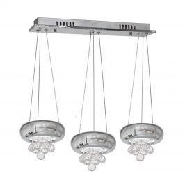 Lampa wisząca 60-100x55cm Milagro Lux Chrome srebrna
