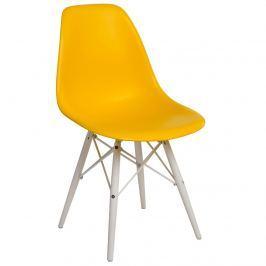 Krzesło P016W PP D2 żółte/białe