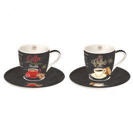 Zestaw filiżanek do espresso 2szt 0,09L Nuova R2S czarny