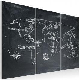 Obraz - Lekcja geografii (Język niemiecki) - tryptyk (60x40 cm)