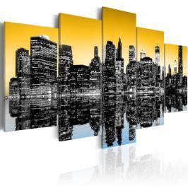 Obraz - NYC lustrzane odbicie - 5 części (100x50 cm)