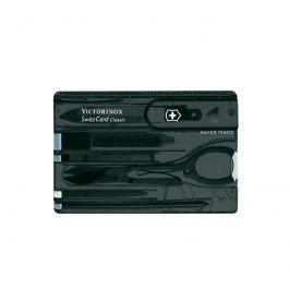 Kieszonkowy zestaw narzędzi Victorinox Swisscard Classic transparentny czarny