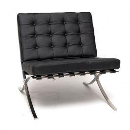 Fotel BA1 skóra czarna TP