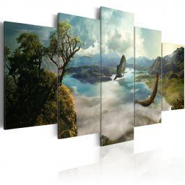 Obraz - Lot sokoła (100x50 cm)