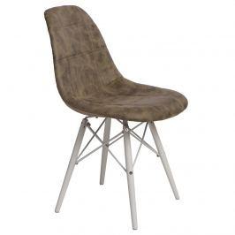 Krzesło P016W Pico D2 oliwkowe/białe