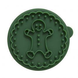Stempel drewniany do ciastek Piernikowy Ludzik Birkmann Owls zielony