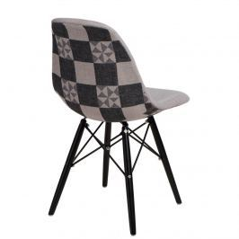 Krzesło P016W Pattern D2 szar-patch /black