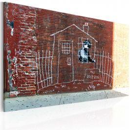 Obraz - Uziemiony (Banksy) (60x40 cm)