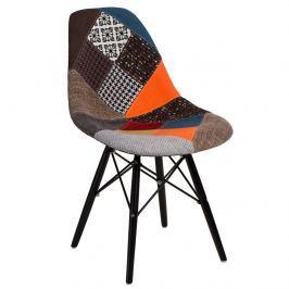 Krzesło P016W Patchwork D2 wielokolorowe/black