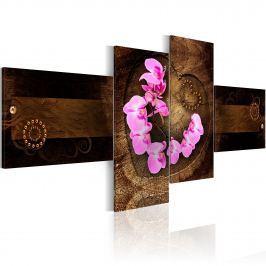 Obraz - Orchidea i drewno (100x45 cm)
