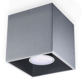 Plafon 10x10cm Sollux Lighting Quad szary