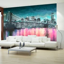 Fototapeta - Malowany Nowy Jork (300x210 cm)