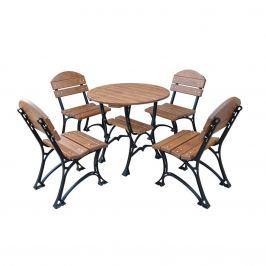 Meble ogrodowe Restor De Luxe bez podłokietników 100cm Fiemar brązowe