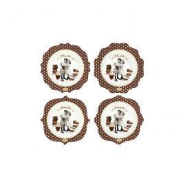 Zestaw talerzy 4 szt. Nuova R2S Chocolate Vintage