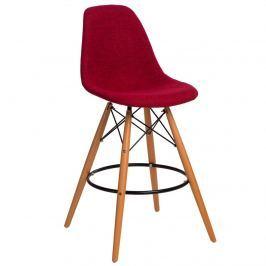 Krzesło barowe P016W Duo D2 czerwono-szare