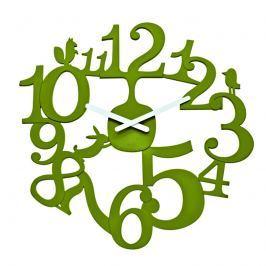 Zegar ścienny oliwkowy Koziol Pi:p