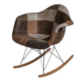 Krzesło P018 RAR Patchwork D2 brązowo-beżowe