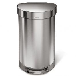Kosz na śmieci 45L pedałowy Simplehuman srebrny