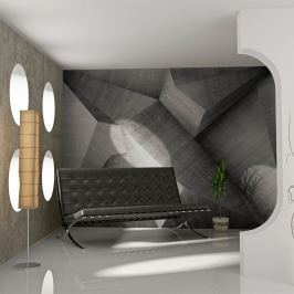 Fototapeta - Abstrakcyjne betonowe bloki (200x154 cm)