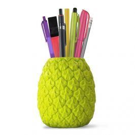 Stojak na długopisy ananas Seriously Tropical Penpot Mustard zielony