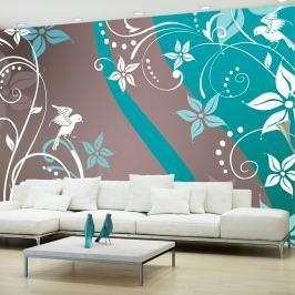 Fototapeta - Kwiatowa fantazja III (300x210 cm)