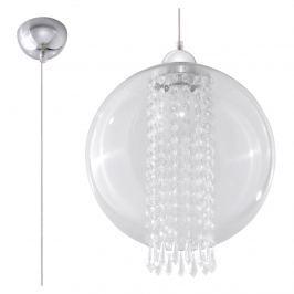 Lampa wisząca 30x30cm Sollux Lighting Camilla przezroczysta