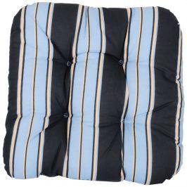 Poduszka na taboret 38x38cm Bazkar czarno-niebieska